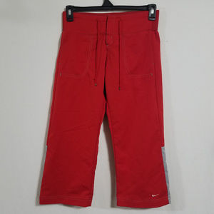 Vintage Nike Womens Small Red Capris Capri Pants